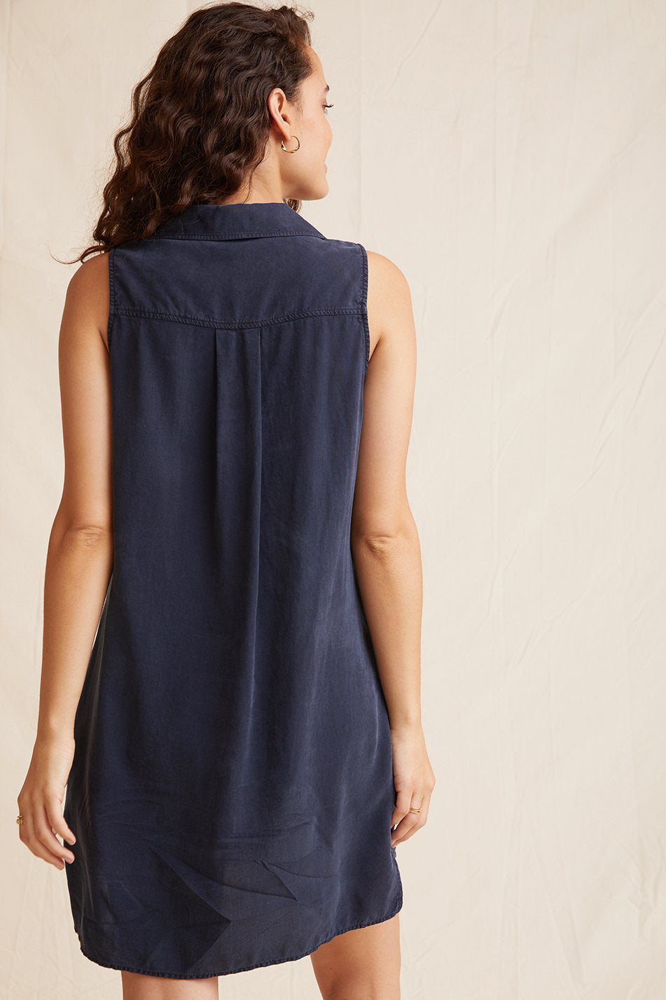 Bella Dahl Sleeveless A-Line Dress Navy