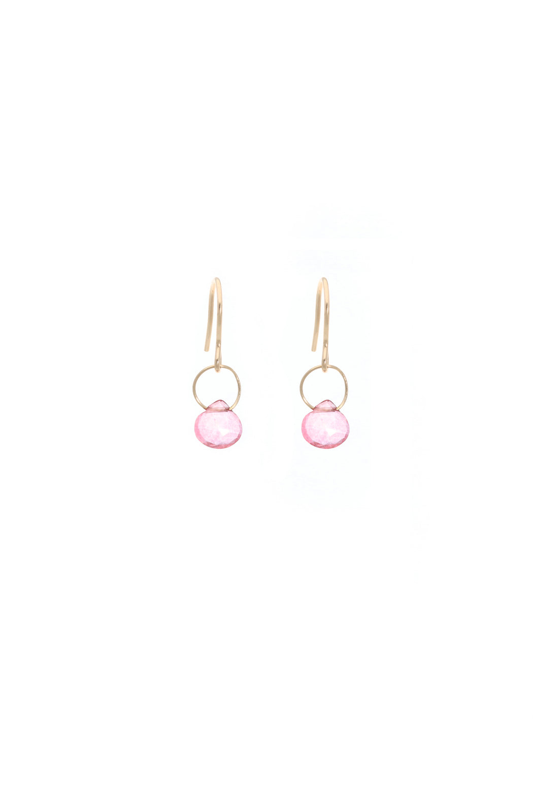 Blue Ruby Cause We Care Pink Topaz Hook Earrings