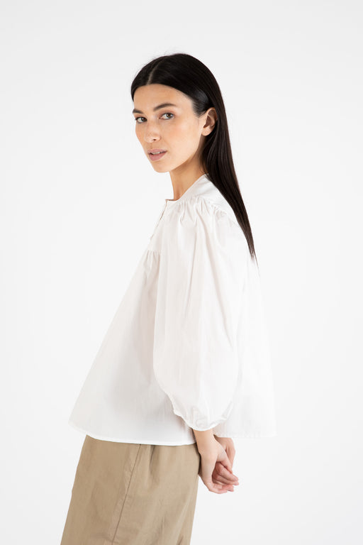 Bronze-Age-Posey-Puff -Sleeve-Blouse-White