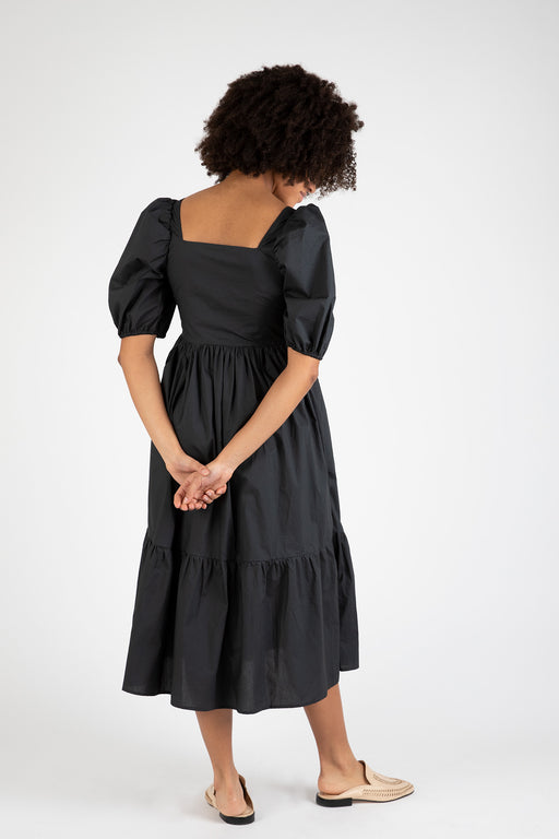 Bronze-Age-Serenity-Puff-Sleeve -Dress-Black