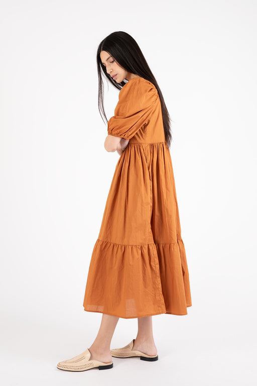Bronze-Age-Serenity-Puff-Sleeve-Dress-Cinnamon