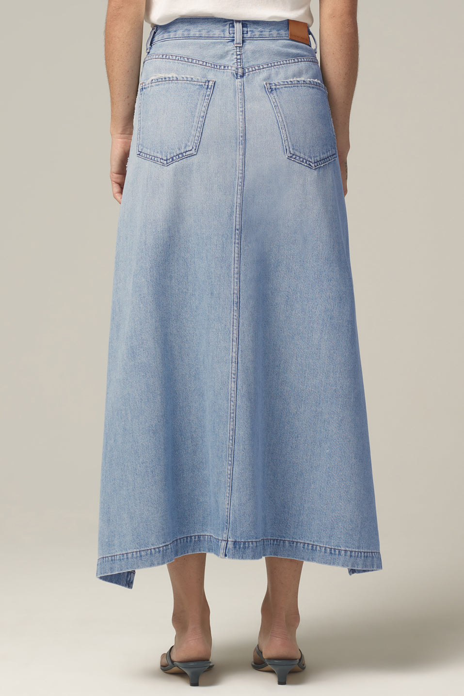 Citizens of Humanity Nella Button Front Skirt in Mirror