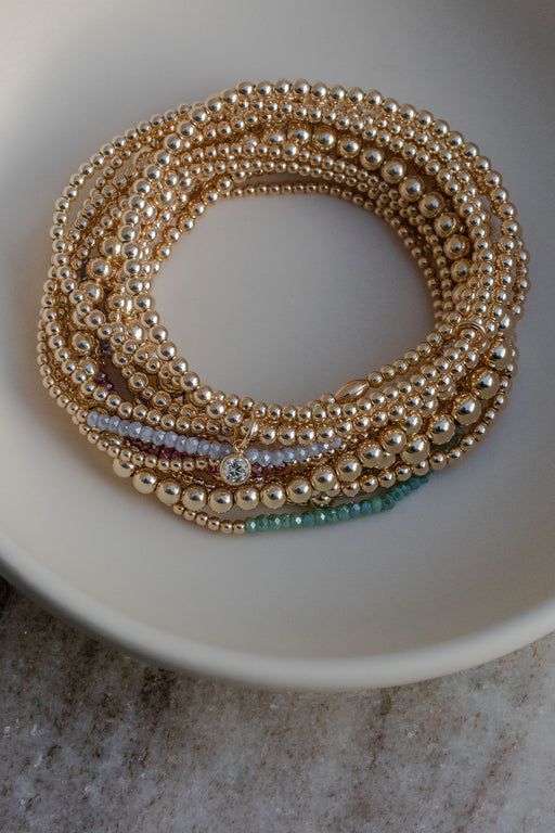 2.5mm Oval Beaded Bracelet