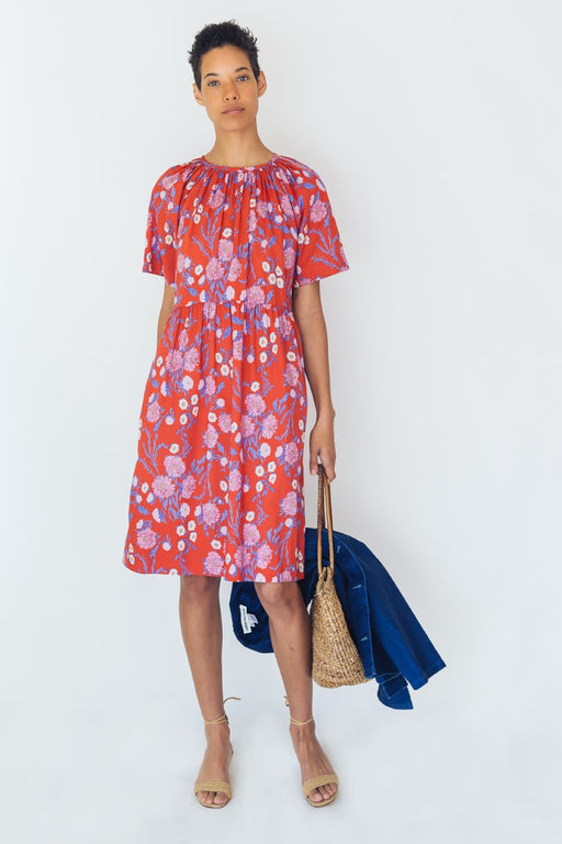 Caron Callahan Amelia Dress Red Poppy