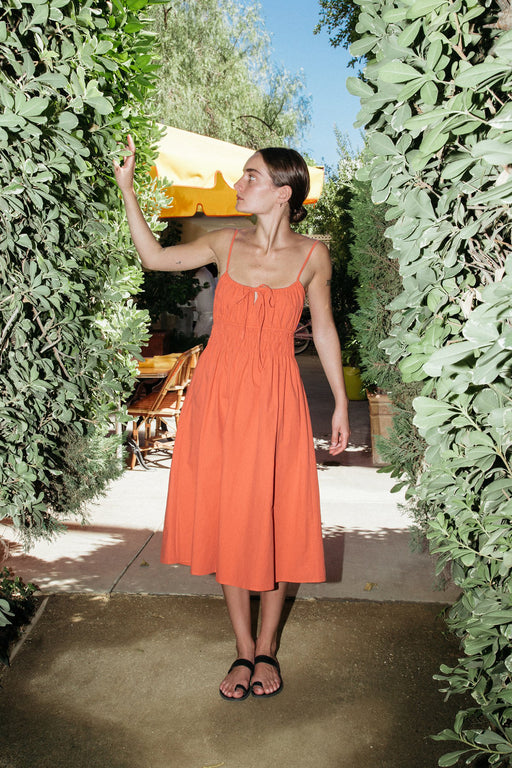 Ciao Lucia Gabriela dress terracotta