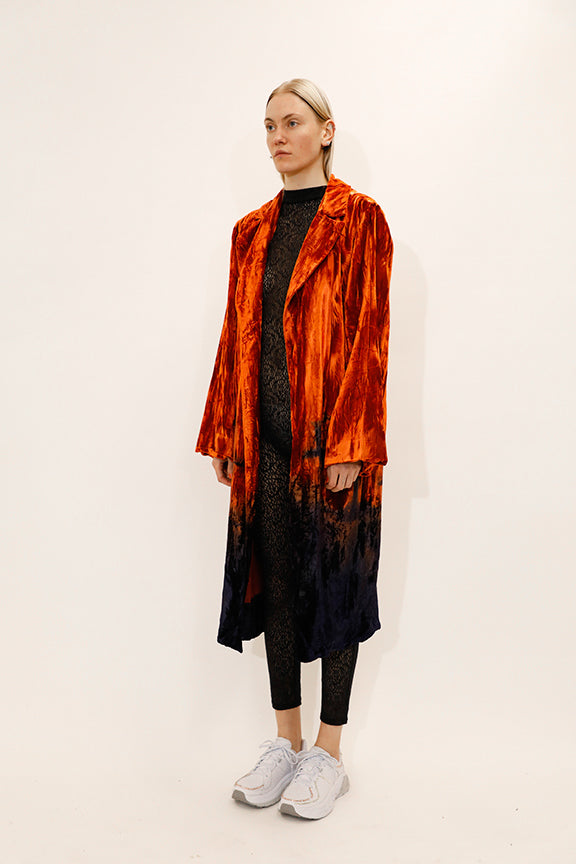 Collina-Strada-Easy-E-Velvet-Jacket-Orange-Grid