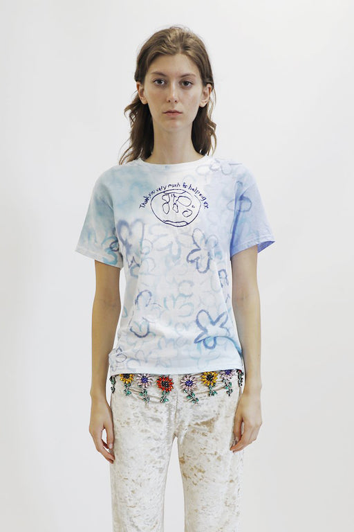 Collina Strada Tie Dye Helping World Tee in Blue Floral