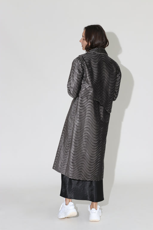 Collina Strada Wave Mechanic Trench Grey