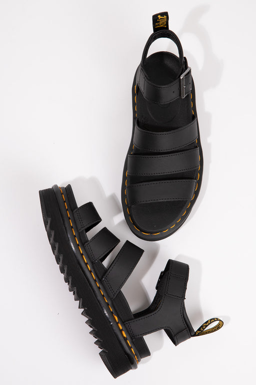 Dr-Martens-Blaire-Hydro-Leather-Gladiator-Sandals-Black