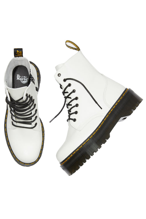 Dr Martens Jadon Smooth Leather Platform Boot White