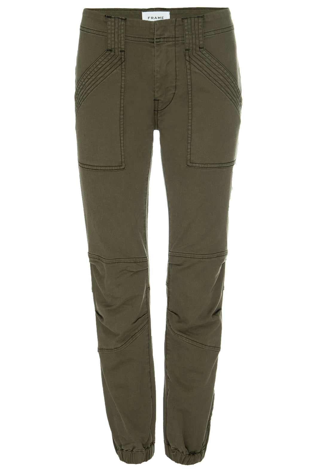 FRAME-Banded-Bottom-Trapunto-Moto-Pant-Washed-Army