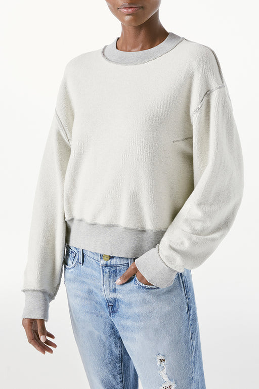 FRAME-Inverse-Easy-Sweatshirt-Gris-Heather