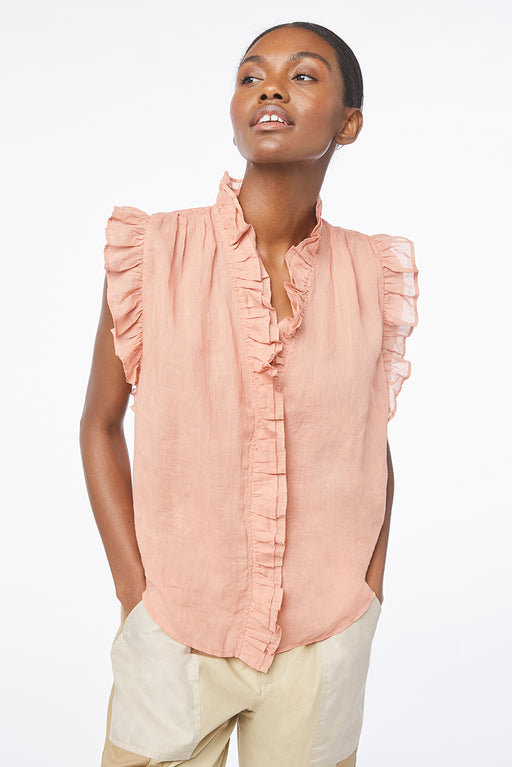 FRAME Lauren Top Bright Terracotta