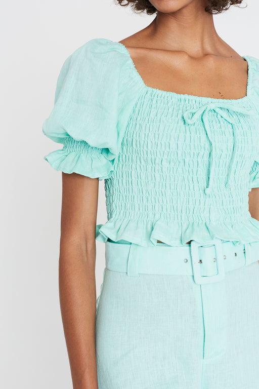 Faithfull the Brand's Lenora Top in Spearmint