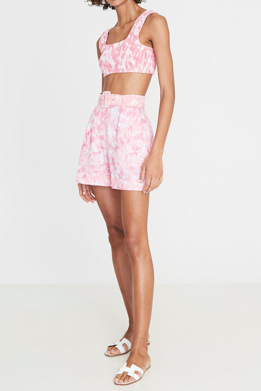 Faithfull the Brand's Les Deux Short in Roos Tie Dye Pink