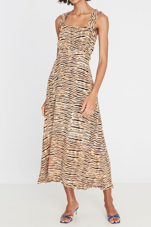 Faithfull the Brand's Saint Tropez Midi Dress in Wyldie Animal