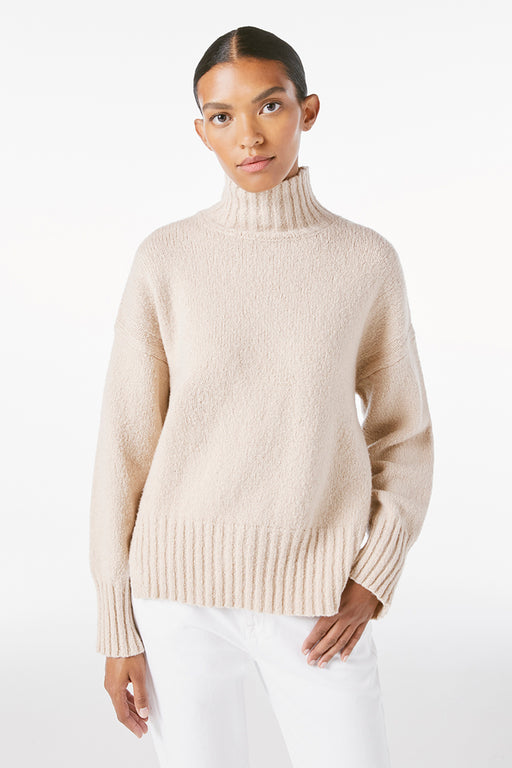 Frame-Side-Slit-Turtle-Neck-Oatmeal