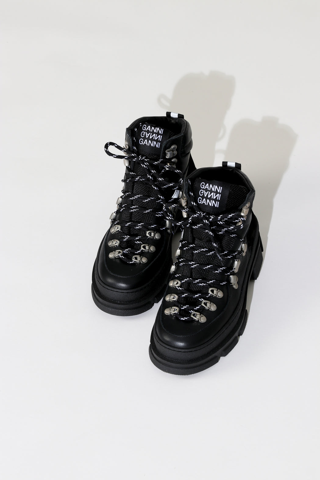 GANNI SPORTY HIKING BOOT BLACK