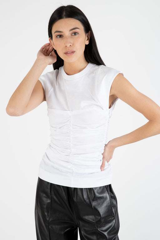 Ganni-Basic-Cotton-Jersey-Fitted-Top-Bright-White