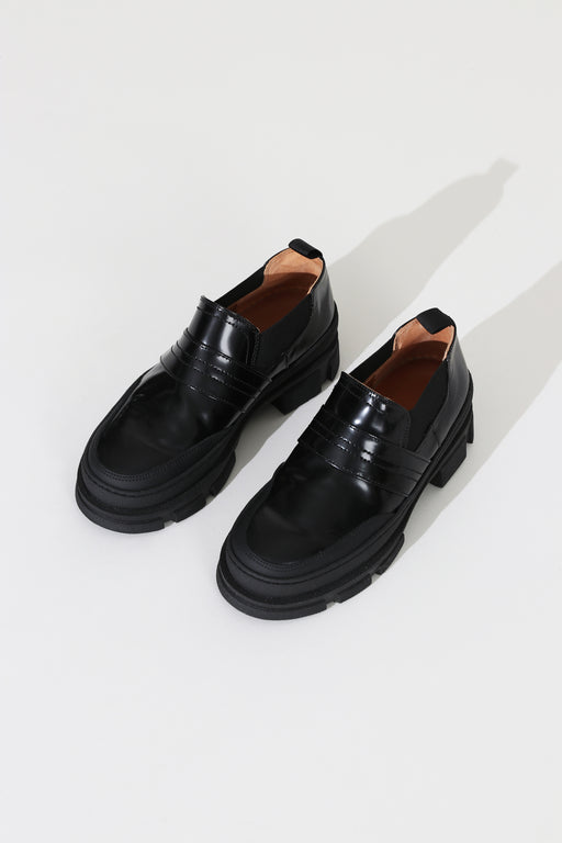 Ganni Chunky Loafer Black