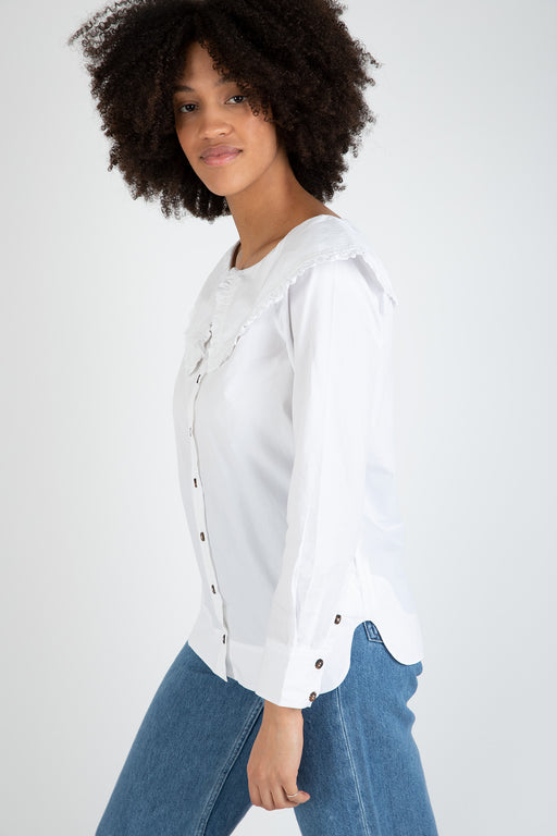 Ganni-Cotton-Poplin-Shirt-Bright-White