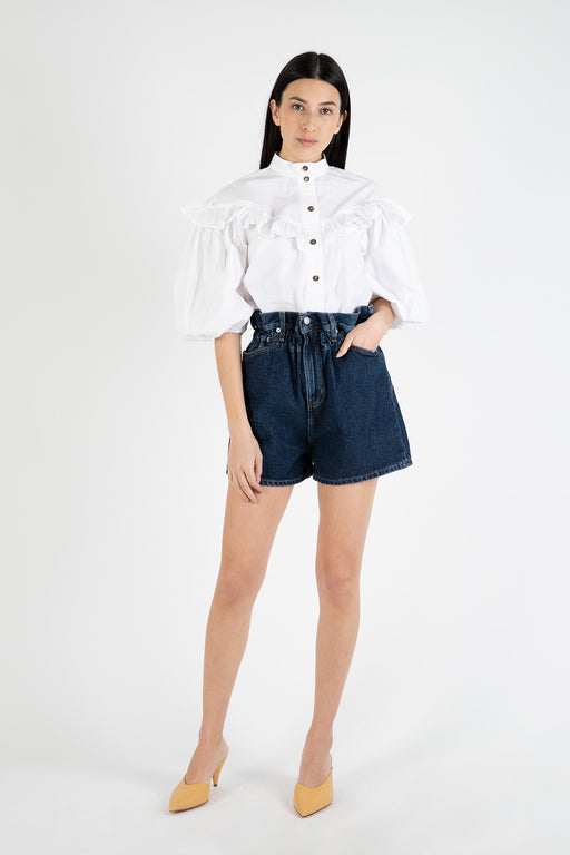 Ganni-Dark-Indigo-Denim-High-Waisted-Shorts-Dark-Indigo