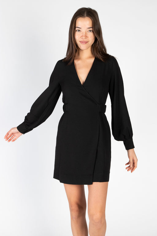 Ganni-Heavy-Crepe-Mini-Dress-Black