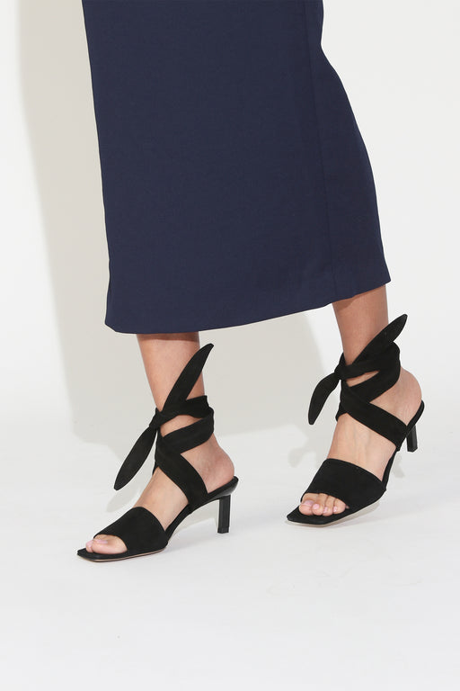 Ganni Heeled Sandal in Black