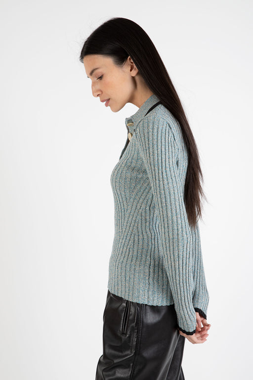 Ganni-Linen-Knit-Blouse-Bachelor-Blue