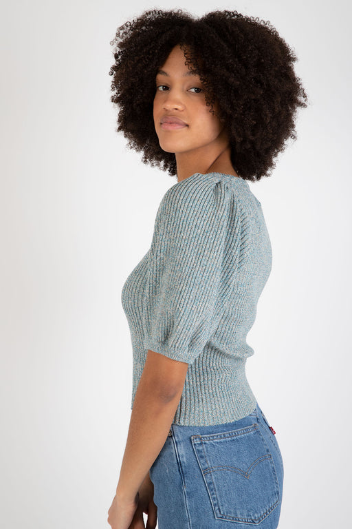Ganni-Linen-Knit-Top-Bachelor-Blue