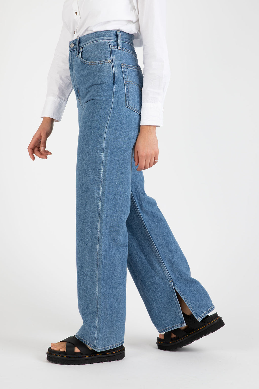 Ganni-Medium-Indigo-Denim-High-Waisted-Pants
