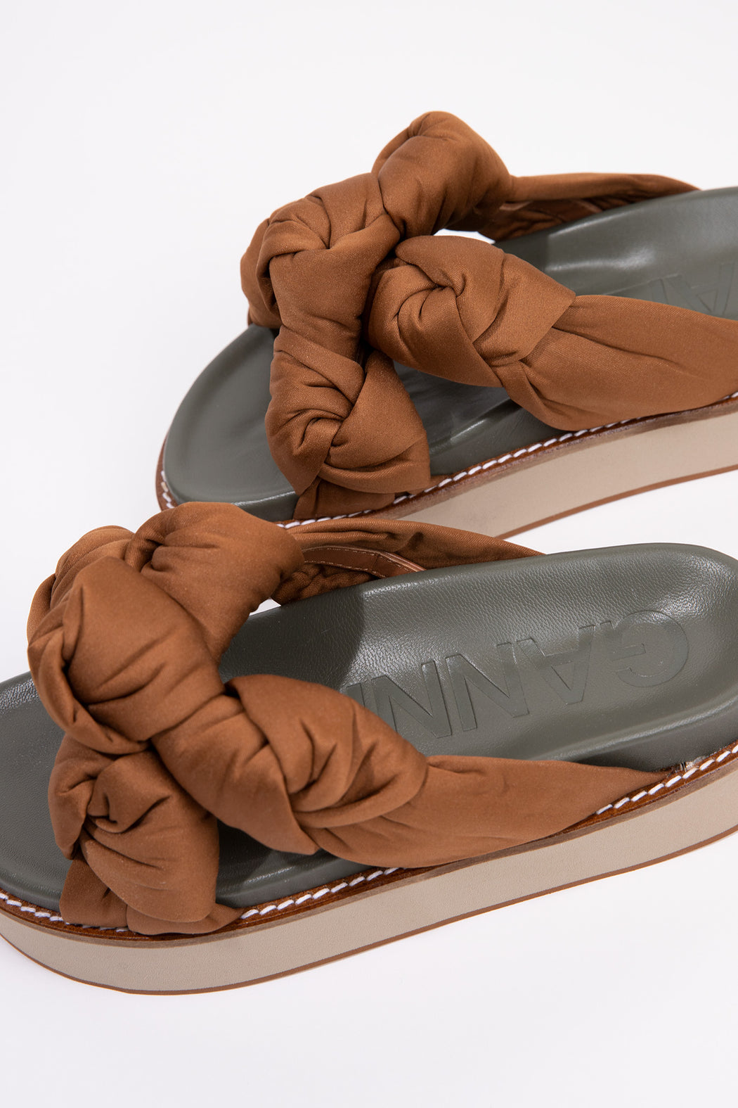 Ganni-Recycled-Satin-Mid-Knotted-Sandal-Chipmunk