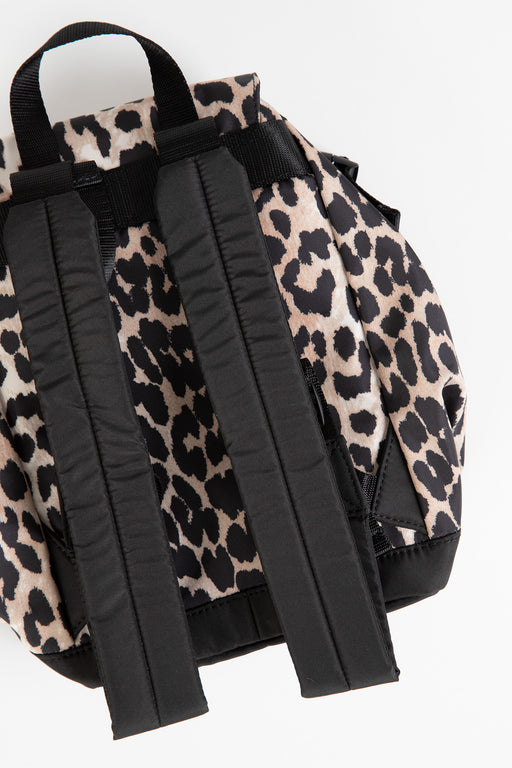 Ganni-Recycled-Tech-Fabric-Bags-Small-Backpack-Leopard