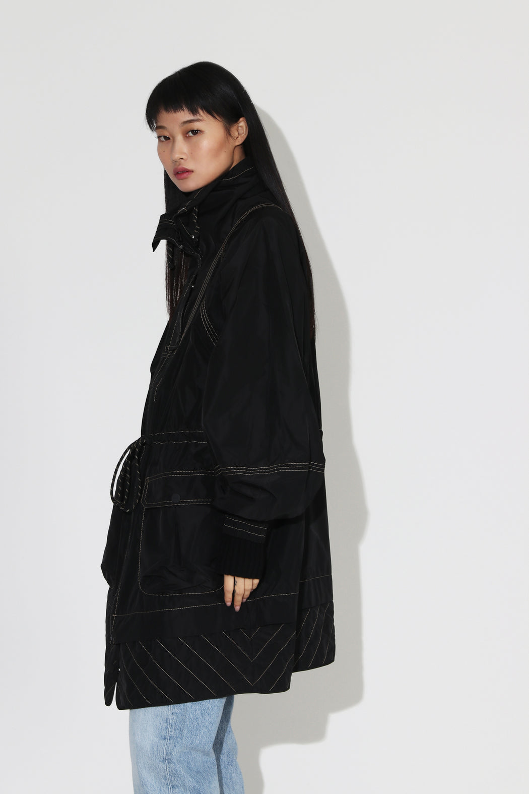 Ganni Recycled Poly Jacket Black