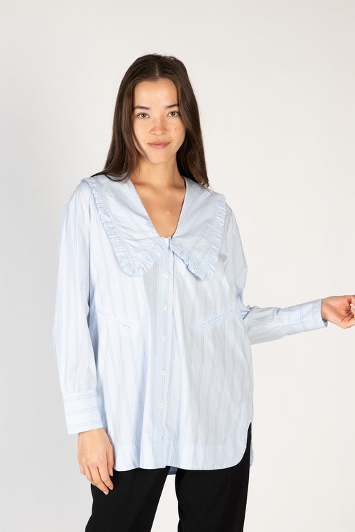 Ganni-Stripe-Cotton-Oversized-Shirt-Heather