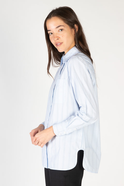 Ganni-Stripe-Cotton-Shirt-Heather