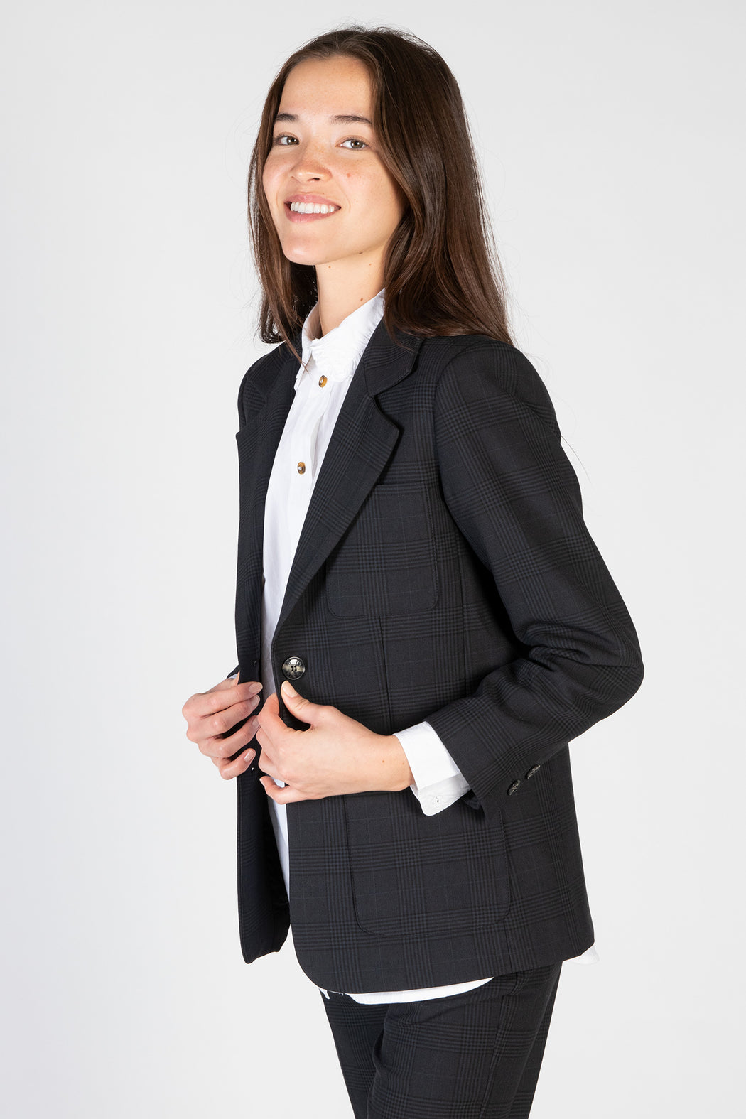 Ganni-Suiting-Fitted-Blazer-Phantom