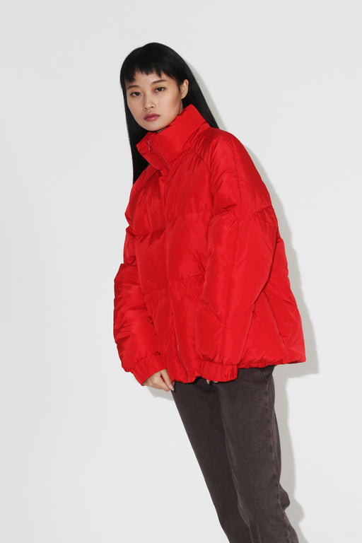 Ganni Tech Down Puff Jacket Samba