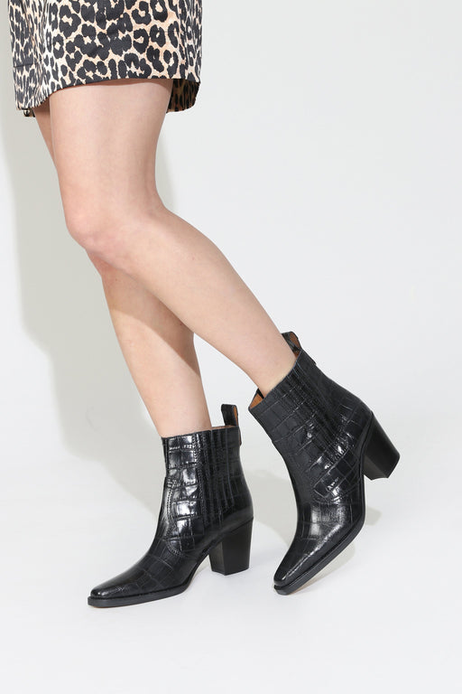 Ganni Western Ankle Boot Black