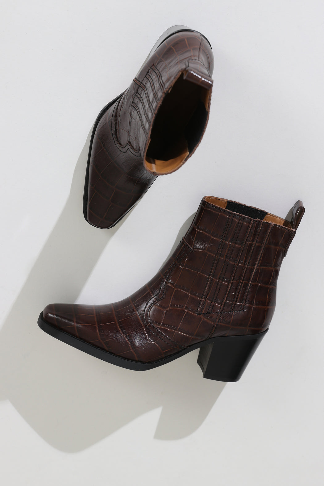 Ganni Western Boot Chicory Coffee