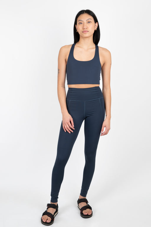 Girlfriend Collective Compressive High-Rise Legging in Midnight