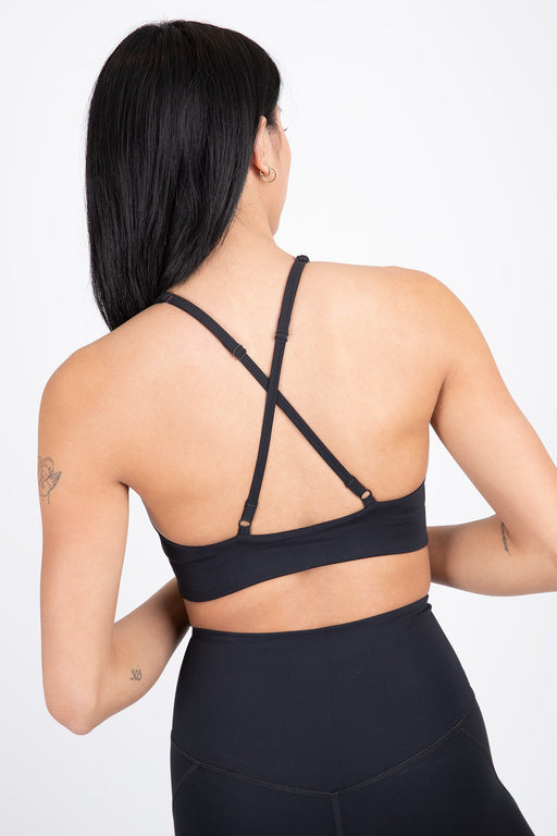 Girlfriend Collective Topanga Sport Bra Black