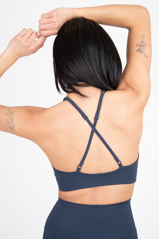 Girlfriend Collective Topanga Sport Bra Midnight Navy