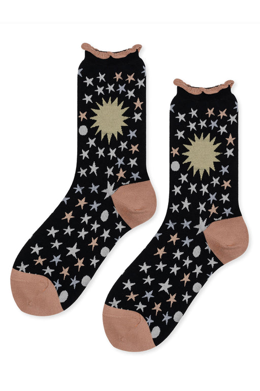 Hansel-from-Basel-Galaxy-Crew-Sock-Black