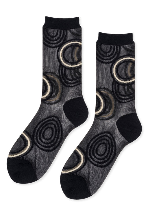 Hansel-from-Basel-Ripple-Sheer-Crew-Sock-Black