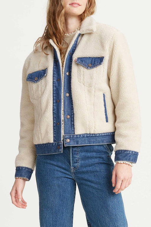 Levis Ex-Boyfriend Pieced Trucker Jacket Counting Sheep