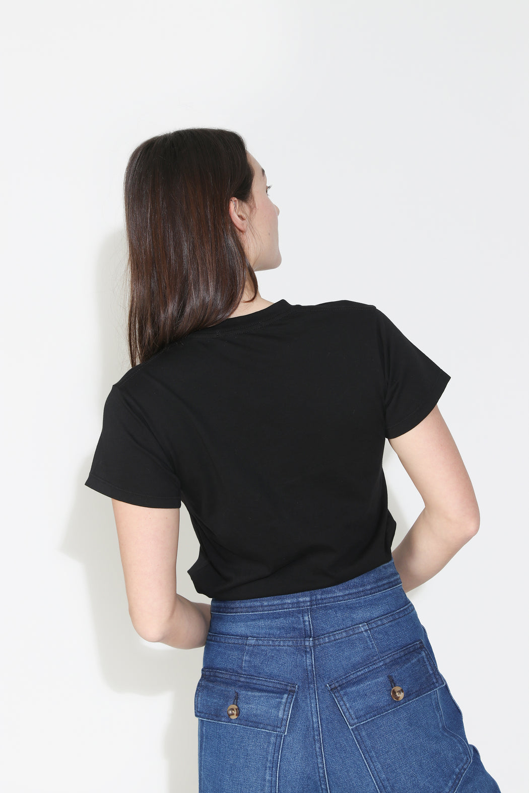 Monogram Pasta Tee in Black