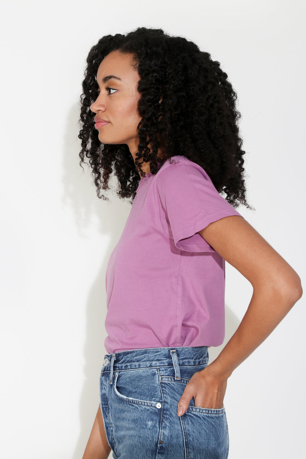 Monogram Solid Tee in Lilac