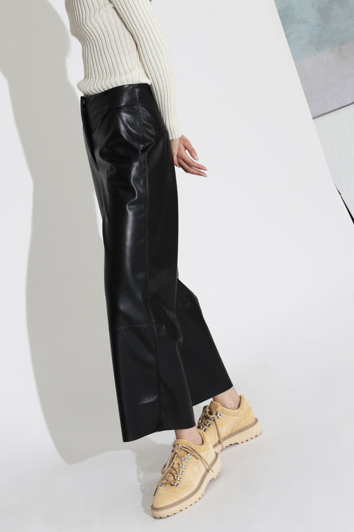 Nanushka Africa Vegan Leather Pant Black