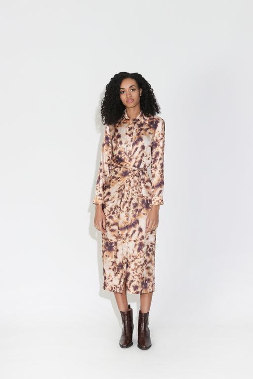 Nanushka Bisso Wrap Dress in Tie Dye